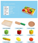 Wooden Cutting Fruit and Vegetable Toy