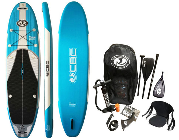CBC 11' CURRENT Crossover I-SUP Package w/ Seat & Kayak Paddle