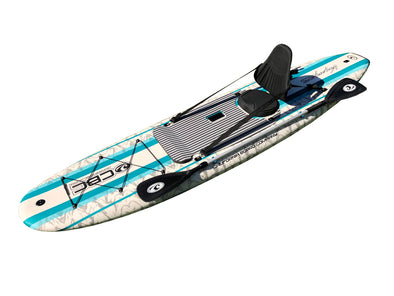 10'6 VOYAGER Fishing SUP w/ Detachable Seat & Kayak Paddle