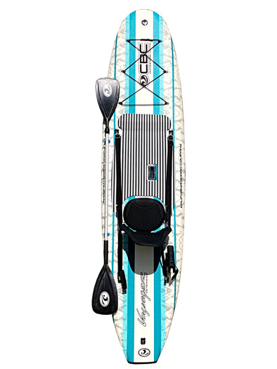 CBC 10'6 Voyager Fishing SUP Package w/ Detachable Seat & Kayak Paddle