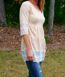 Lace Trim Babydoll Tunic | 2 Color Options