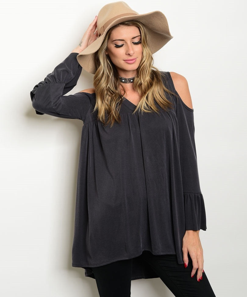 Cold Shoulder Tunic | 3 Color Options