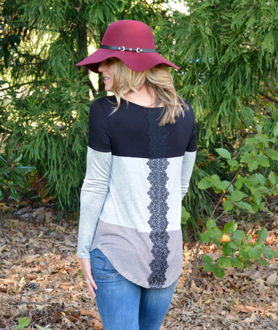 Color Block Striped Tunic - 2 Color Options