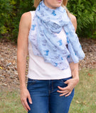 Blue Horse Scarf