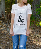 Love & Ice Cream Tee