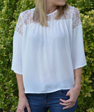 Perfect Lace Holiday Top