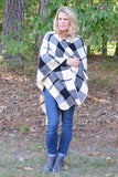 Cozy Plaid Blanket Poncho | 2 Color Options