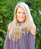 Fringe Infinity Scarf | 3 Color Options