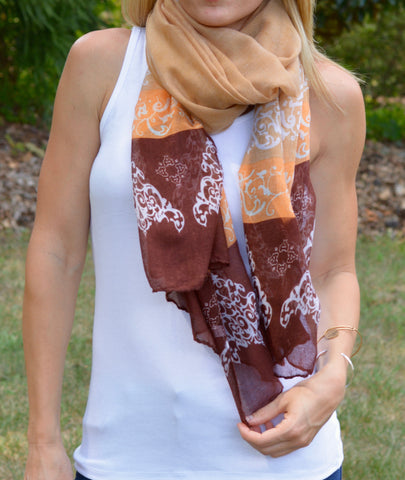 Burnt Feminine Design Scarf