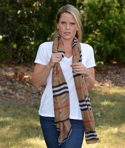 Casual Striped Scarf | 3 Color Options