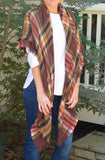 Brown Plaid Blanket Scarf