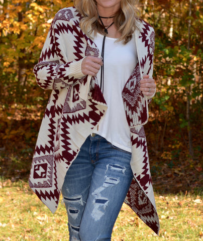 Tribal Sweater Cardigan | 2 Color Options