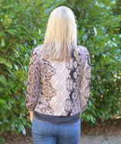 Black Tan Paisley Cardigan