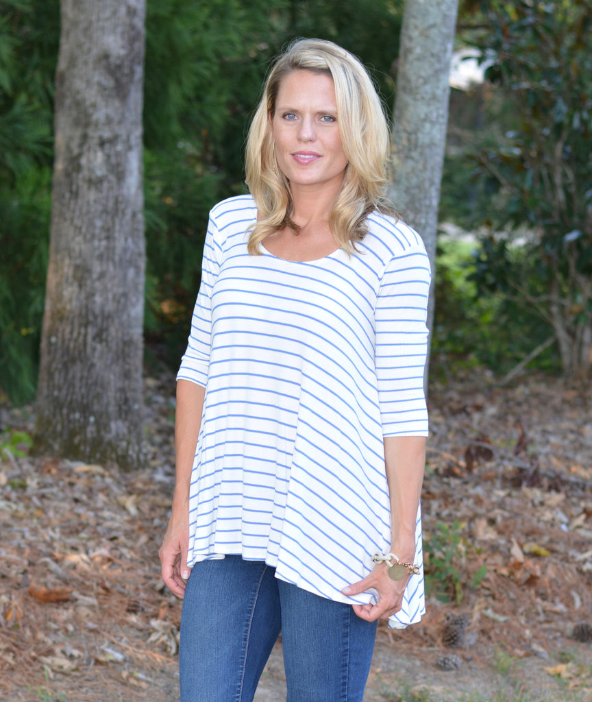 Blue Striped Swing Tunic