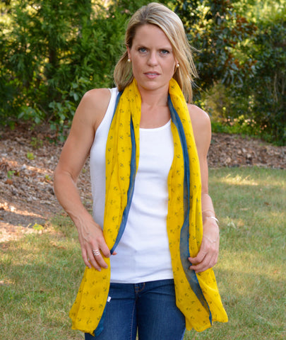 Two Toned Anchor Scarf | 4 Color Options