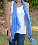 Periwinkle Anchor Scarf