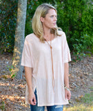 Light Peach Flowy Top