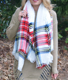 Red & White Blanket Scarf