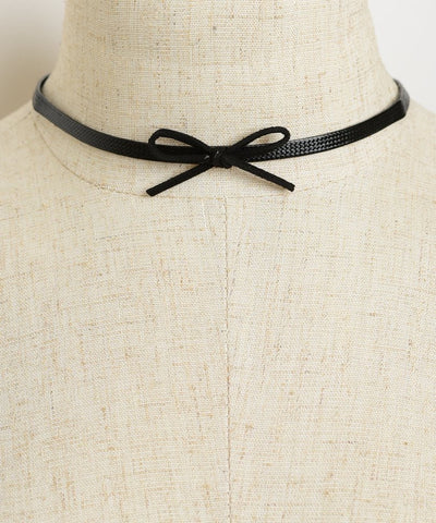 BOW SHAPE NECKLACE CHOKERS