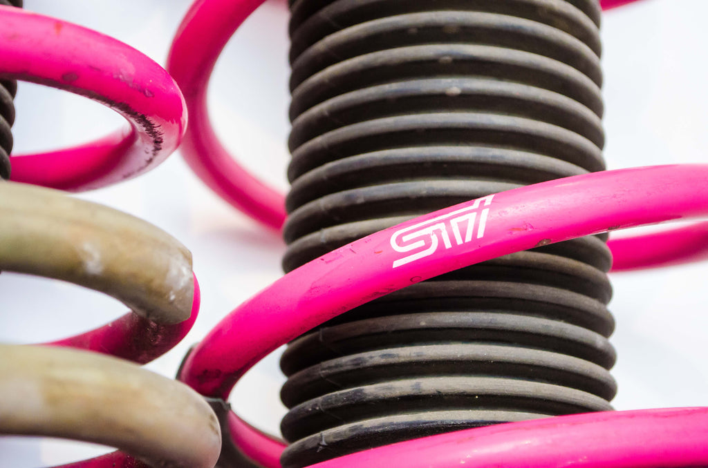 Struts - STI Ver7 S202 Inverted Struts with Pink Springs