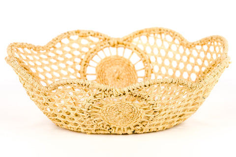Raffia Scalloped Oval - Small
