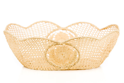 Raffia Scalloped Oval - Medium