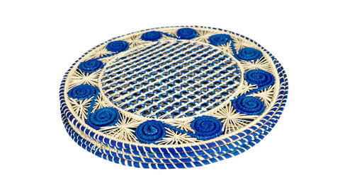 Spiral Placemat Blue Set of 4