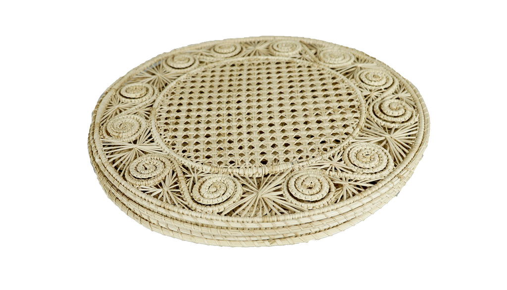 Spiral Placemat Natural Set of 4
