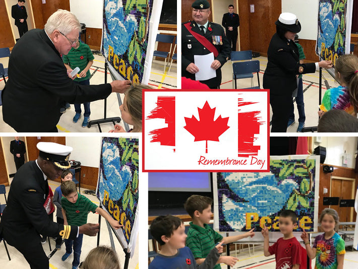 Bringing Peace (piece by piece) to Veteran's Day (US) and Remembrance Day (Canada)