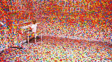 All Ages Collaborate on an Art Piece by Yayoi Kusama
