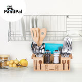 Bamboo Wooden Utensil Caddy Flatware Silverware Organizers