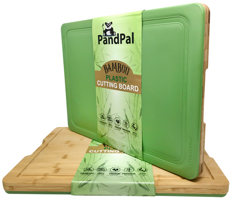 Bamboo Plastic Hybrid Cutting Board For Kitchen EXTRA LARGE [18 X 13 X 1]