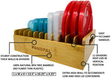 Bamboo Lid Organizer Compatible with Tupperware Containers