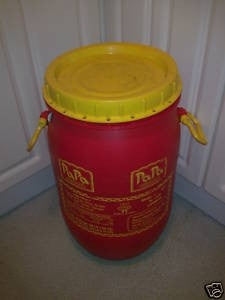30 LTR PLASTIC DRUM, LEGS and SPIRAL