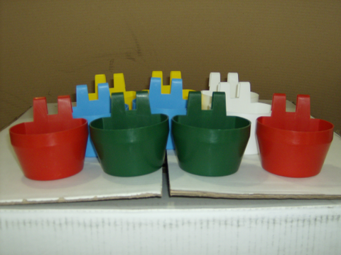 CAGE CUPS FOR FEED & WATER