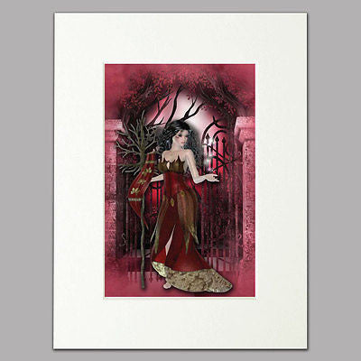 Burgundy Fairy Mounted Print
