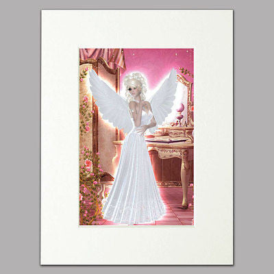 Bedroom Angel Mounted Print