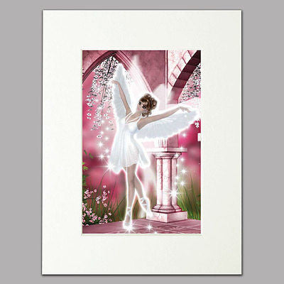 Ballet Angel Mounted Print