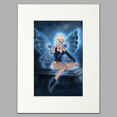 Blue Fairy Mounted Print