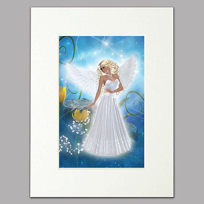 Blue Angel Mounted Print