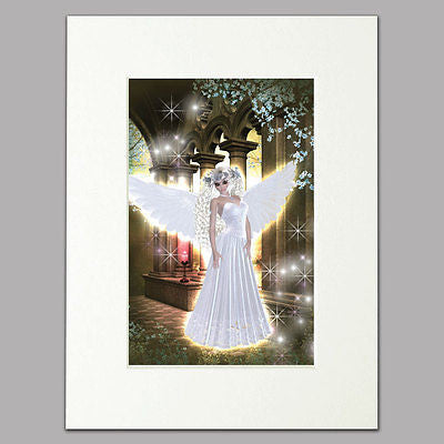 Castle Angel Mounted Print