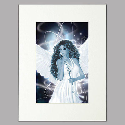 Black and White Fairy Mounted Print