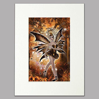Autumn Fairy Mounted Print