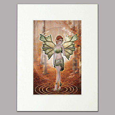 Autumn Bubble Fairy Mounted Print