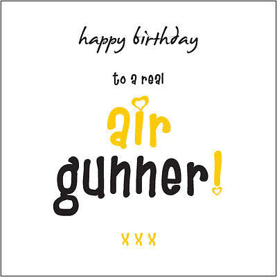 """Happy Birthday Air Gunner"" (Stunner) Card Cockney rhyming for girls/women"