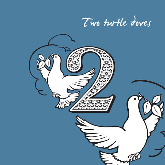 2nd Day of Christmas 'Two Turtle Doves' Card – Artinfusion
