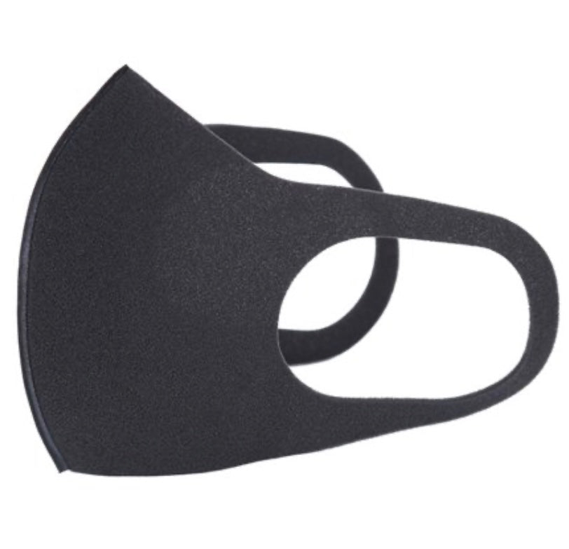 BLACK Reusable-Breathable FACE MASK