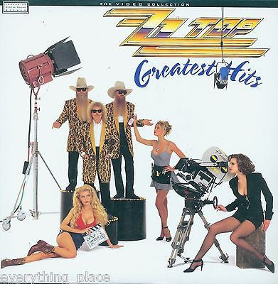 ZZ Top Greatest Hits The Video Collection Warner Brothers Laserdisc