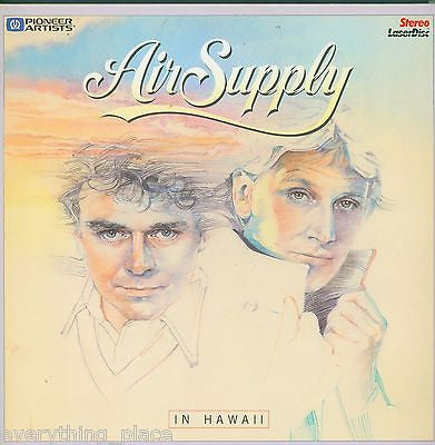 Air Supply Live In Hawaii Music Laserdisc