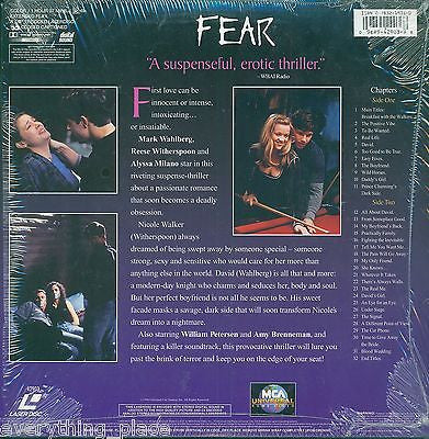 Fear Letterboxed Edition Laserdisc Movie